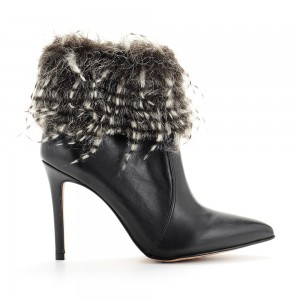 HIGH HEEL ANKLE BOOT WITH FEATHERS JOYS