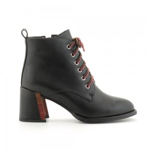 HIGH HEEL LACE-UP ANKLE BOOT LOVEBERRY