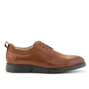 LACE UP  EMBOSSED/LEATHER DERBY V1969
